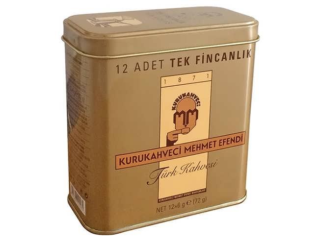 108 gr Turkish Coffee Sachets 12 cups KuruKahveci Mehmet Efendi фото