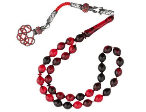 Amber prayer beads tesbih opaque