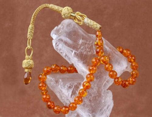 Pure amber prayer beads tesbih