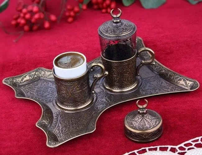 Turkish Coffee Set for One, Oxide Colour фото