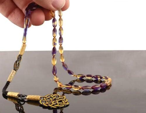Wave amber prayer beads tesbih