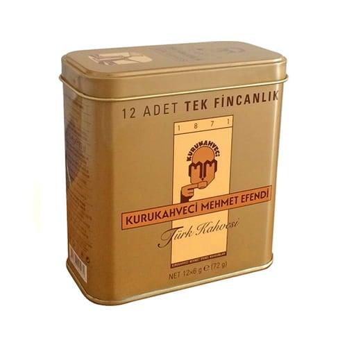 108 gr turkish coffee sachets 12 cups kurukahveci mehmet efendi