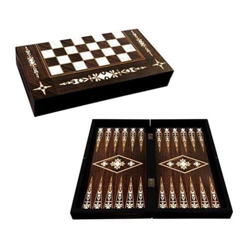 Antik håndlavet Backgammon Nacre