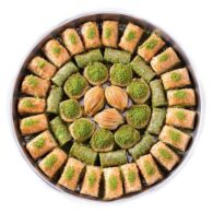 Baklava special with pistachio on the tray