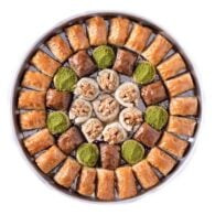 Baklava special with walnut on the tray