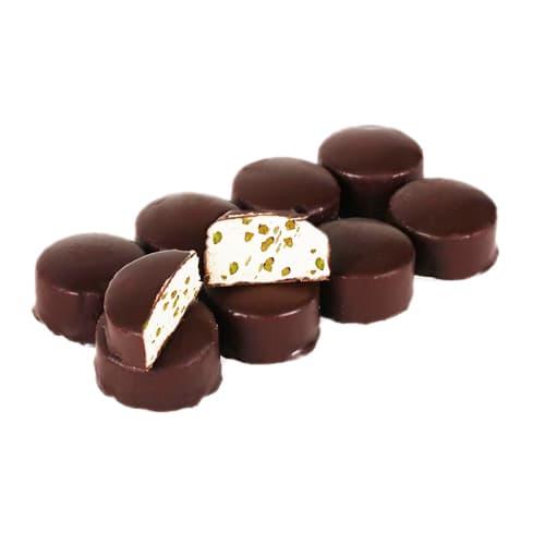 Halva de soie pistache enrobée de chocolat