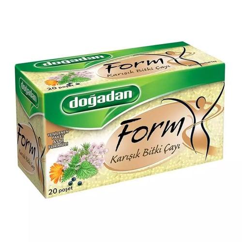 Bentuk dogadan teh herbal campuran