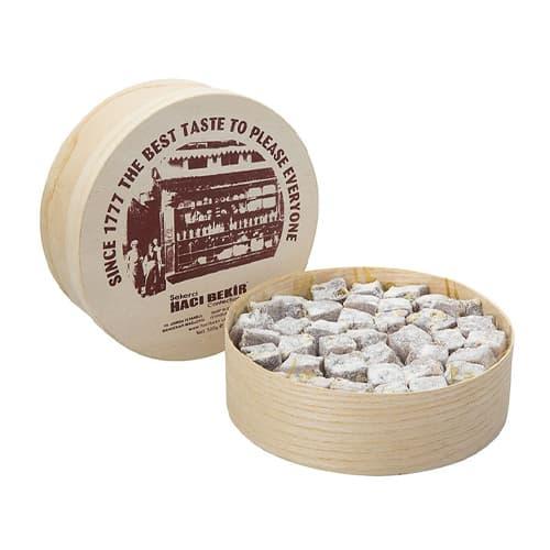अतिरिक्त पिस्ता (लकड़ी के बक्से) के साथ Haci Bekir तुर्की डिलाईट