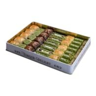 Hafız mustafa assortiment baklava 1,750 gr in metalen doos