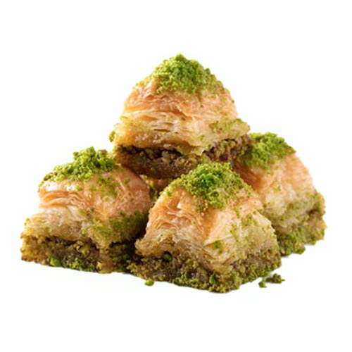 Long lasting dry baklava with pistachio