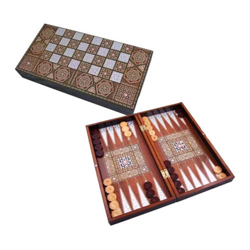Nácar de backgammon masivo hecho a mano