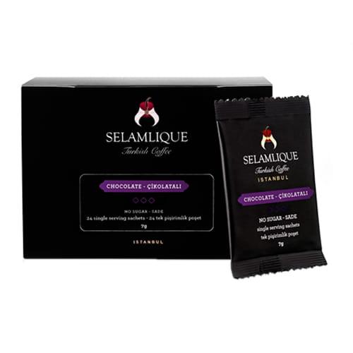 Selamlique chokolade tyrkiske kaffeposer pakker med 24