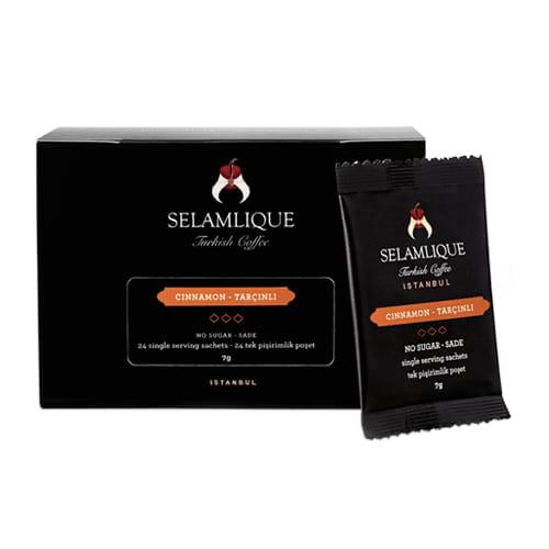 Selamlique Cinnamon Turkse koffie Sachets Packs van 24