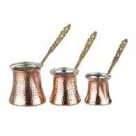 Turkse koffiepotenset 3-delig koper