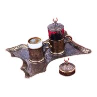 Turkish Coffee Set for One Oxide Colour