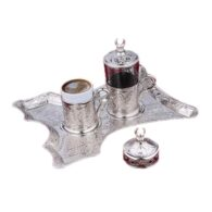 Turkish Coffee Set for One Silver Colour
