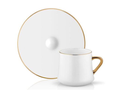 Sufi tea coffee cup set 6 pieces gold border 1