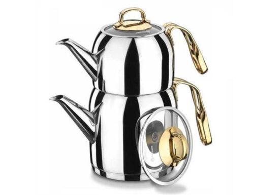Turkish tea pot set goldia