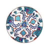 Turkish-Iznik-Tile-Handmade-Anatolia-Ceramic-Plate-D-25cm
