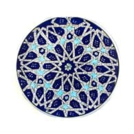 Turkish-Iznik-Tile-Handmade-Seljuk-Star-Ceramic-Plate-D-25cm