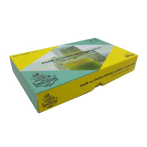 Haci Bekir Turkish Delight med mynte og citron 200gr