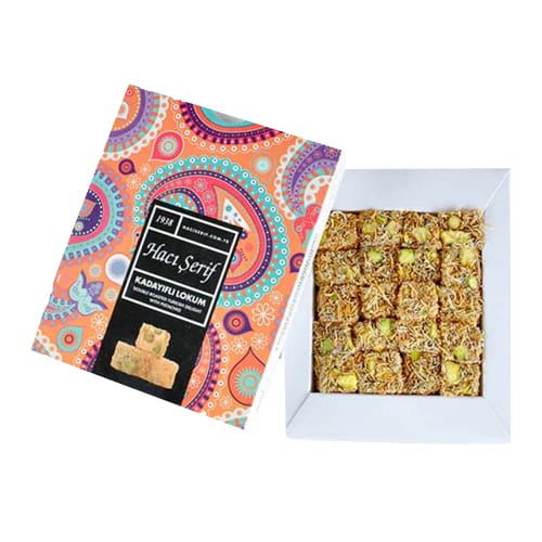 Haci Serif Double Roasted Turkish Delight mit Pistazien und Kadayifi 125gr