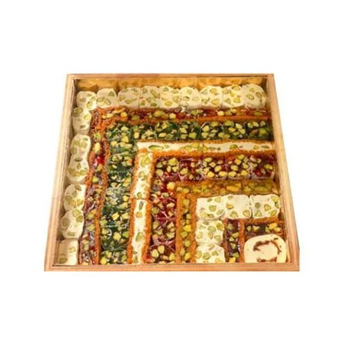 Hafiz Mustafa Assorted Turkish Delight Wooden Box 1100gr