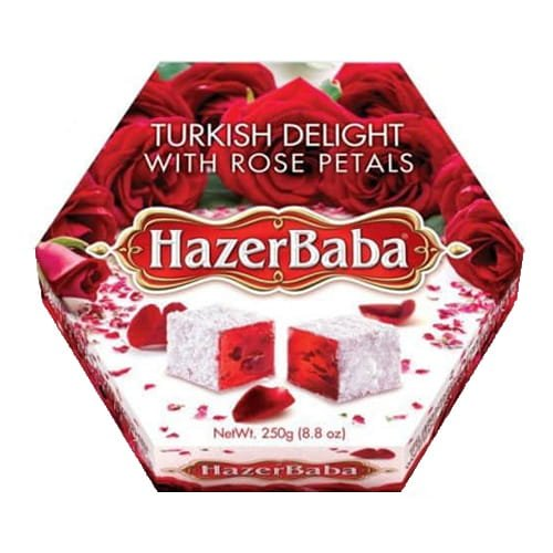 Hazer Baba Turkish Delight with Rose Petals