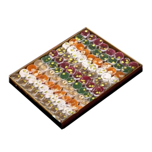 Ikbal special mixed small turkish delight box 1250gr