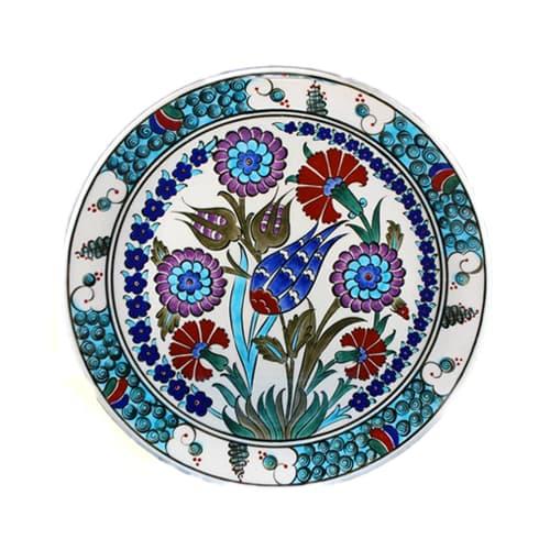 Turkish-iznik-tile-handmade-flower-garden-ceramic-plate-d-25cm