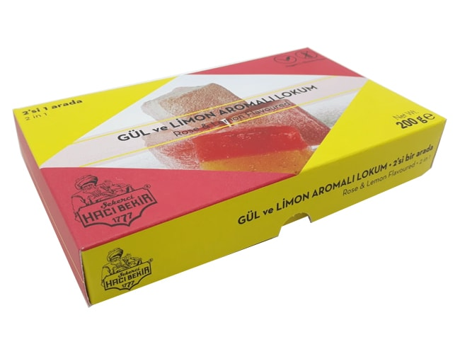 Haci Bekir Turkish Delight with Rose and Lemon, 200gr фото