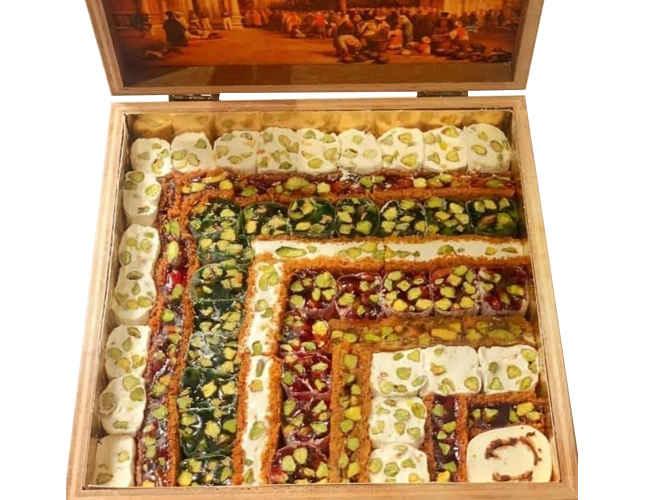 Hafiz Mustafa Assorted Turkish Delight Wooden Box 1100gr фото