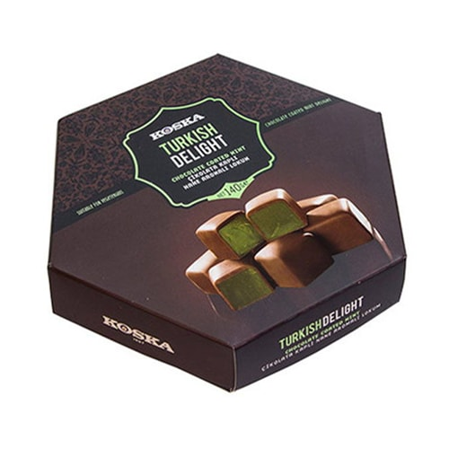 Koska Chocolade Bedekt Turks Fruit met Muntsmaak 140 gr