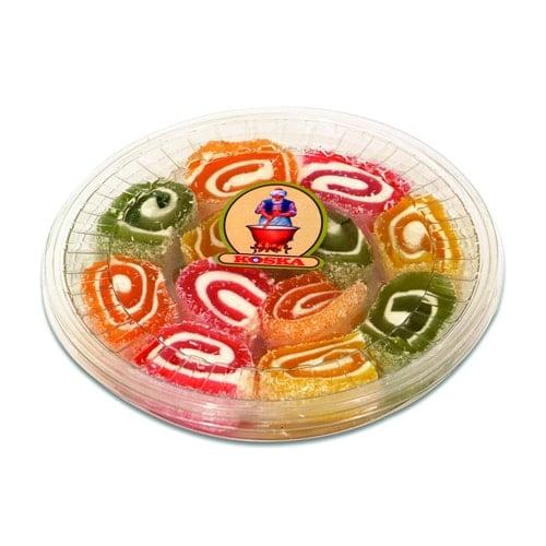 Koska frukt smaksatt Sultan Turkish Delight Transparent Boxed