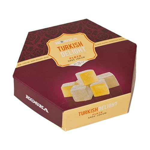 Koska Traditional Plain Turkish Delight (Turkish Lokum) 250 gr