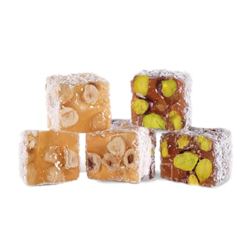 Koska Traditional Turkish Delight with Coconut, Pistachio and Hazelnut Flavoured (Turkish Lokum) 250 gr