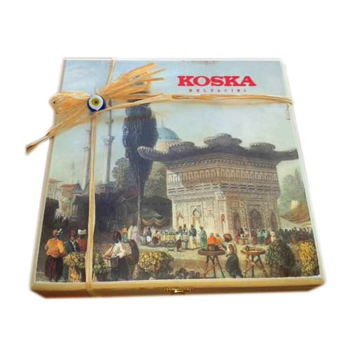 Koska Traditional Turkish Delight mit Doppelpistazien aus Holz