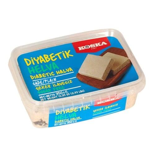Koska Traditionele Turkse Halva Gewoon suikervrij voor diabetici 350 gr