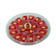Koska Traditional Turkish Palace Delight with Almond and Rose-Flavored Transparent Boxed 500 gr