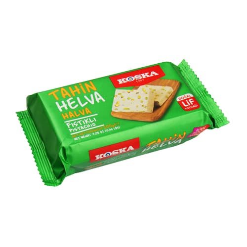 Koska turkish traditional halva with extra pistachio