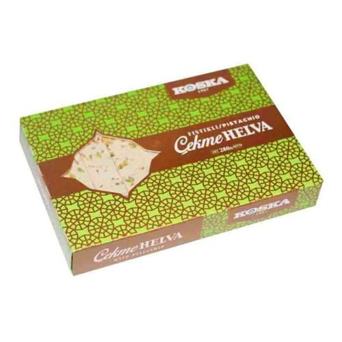 Koska Turkish Traditional Plain Tensile Halva with Pistachio
