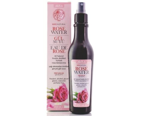 Akita premium guality natural turkish rose water spray contains rose oil min