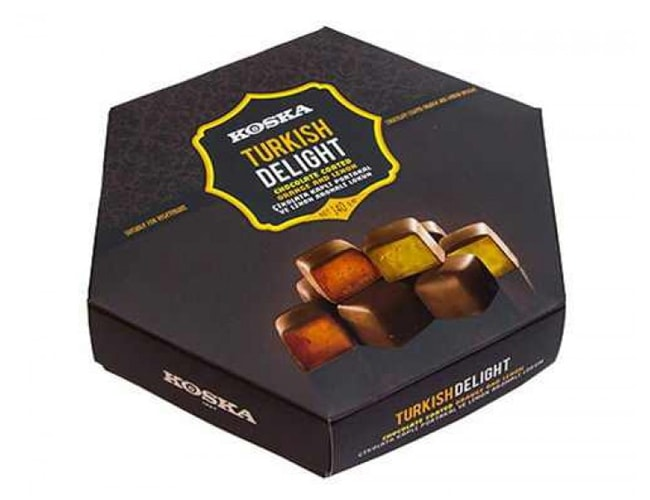 Koska Chocolate Coated Turkish Delight with Lemon and Orange Flavored, 140 gr фото