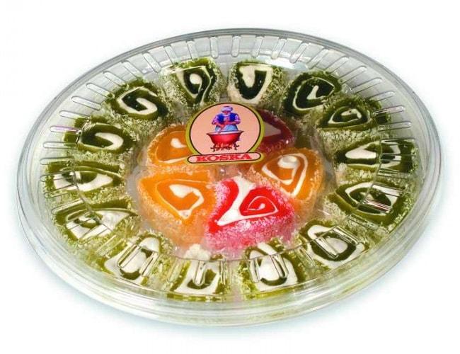 Koska Fruit Flavored Sultan Turkish Delight - Transparent Boxed фото