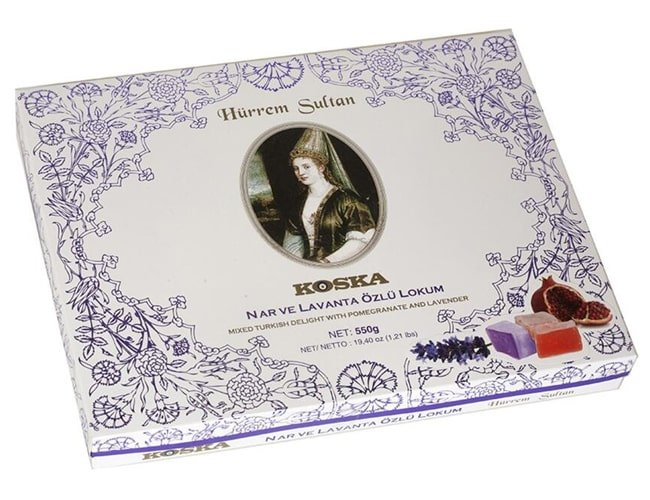 Koska Traditional Turkish Delight Hürrem Sultan with Pomegranate and Lavender Mixed, 550 gr фото