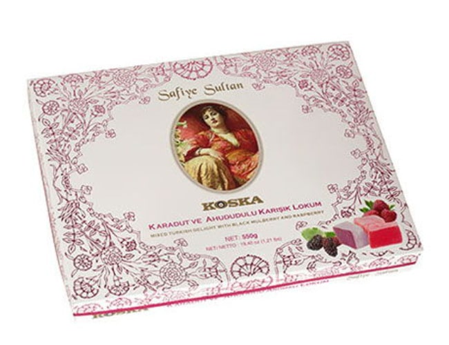 Koska Traditional Turkish Delight Safiye Sultan with Black Mulberry and Raspberry Mixed, 550 gr фото