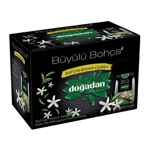 Grøn te med jasminblomster