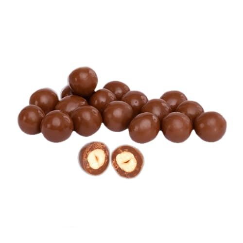 Hazelnut dragee covered with chocolate 200 gr