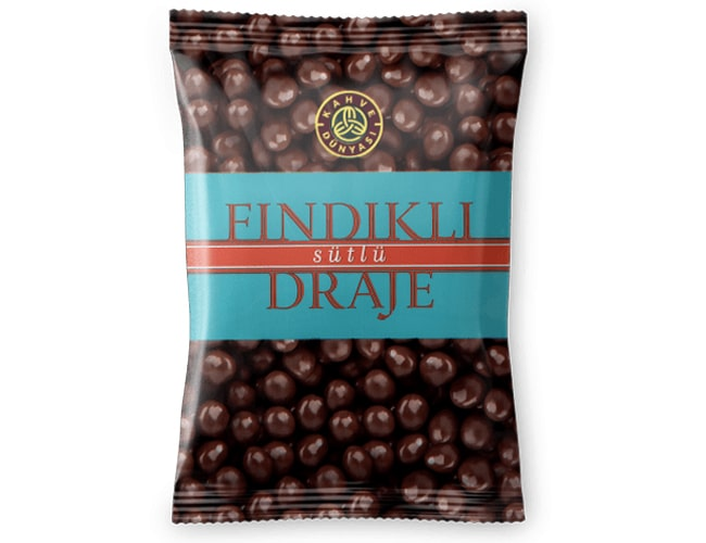Hazelnut Dragee Covered with Chocolate, 200 gr фото