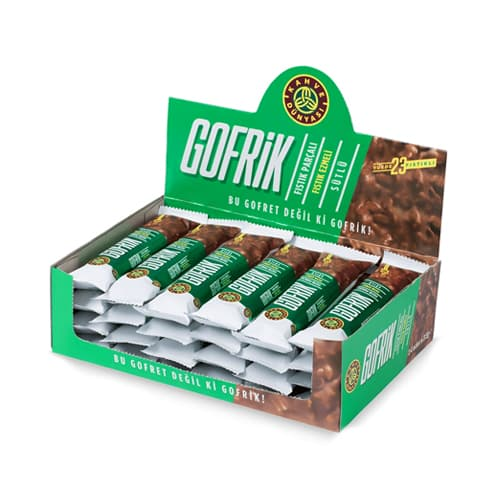 Gofrik Milk Chocolate dengan Pistachio 24 Pieces